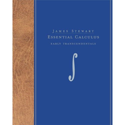 We will use Essential Calculus: Early Transcendentals, by James Stewart.